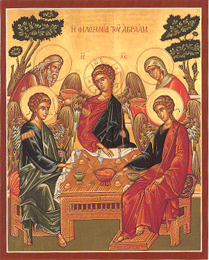 Holy Trinity Icon: The Hospitality of Abraham